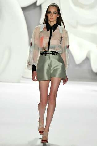 A model walks the runway at the Carolina Herrera Spring Summer 2013 fashion show during New York Fashion Week on September 10, 2012 in New York, United States. Photo: Chris Moore/Catwalking, Getty Images / 2012 Catwalking