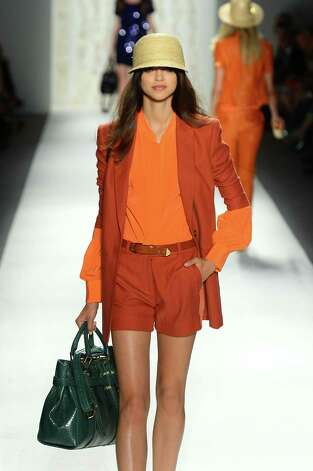 A model walks the runway at the Rachel Zoe Spring 2013 fashion show during Mercedes-Benz Fashion Week at The Studio Lincoln Center on September 12, 2012 in New York City. Photo: Frazer Harrison, Getty Images For Mercedes-Benz F / 2012 Getty Images