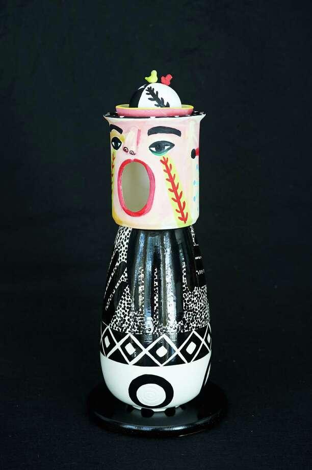 âÄúWeird, Wild, WackyâÄù is a ceramic creation by Judy Henderson of Weston. Photo: Contributed Photo / Westport News