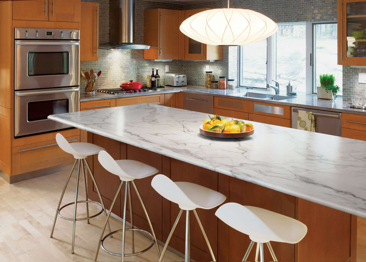 New laminate options, including ogee edges, make the synthetic material a credible likeness of natural materials.