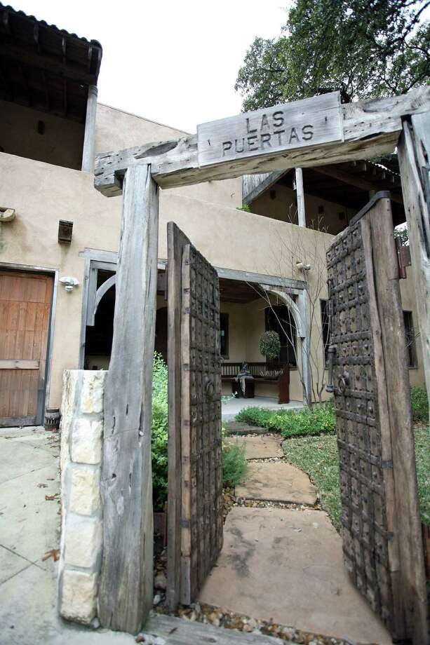 The Lees call their Santa Fe-style house Las Puertas; the doors are from China.