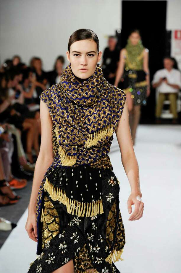 A model walks the runway wearing Altuzarra Spring 2013 at Industria Superstudio on September 8, 2012 in New York City. Photo: Arun Nevader, Getty Images / 2012 Getty Images