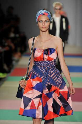 A model walks the runway at the Marc by Marc Jacobs Spring Summer 2013 fashion show during New York Fashion Week on September 11, 2012 in New York, United States. Photo: Karl Prouse/Catwalking, Getty Images / 2012 Catwalking