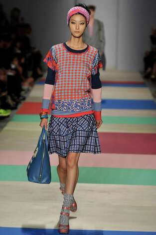 A model walks the runway at the Marc by Marc Jacobs Spring Summer 2013 fashion show during New York Fashion Week on September 11, 2012 in New York, United States. Photo: Chris Moore/Catwalking, Getty Images / 2012 Catwalking