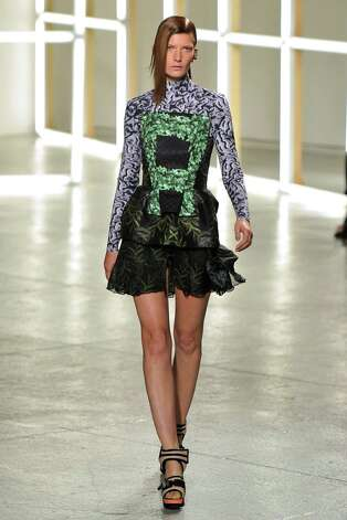 A model walks the runway at the Rodarte Spring Summer 2013 fashion show during New York Fashion Week on September 11, 2012 in New York, United States. Photo: Karl Prouse/Catwalking, Getty Images / 2012 Catwalking