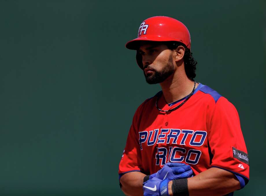 Puerto Rico's Angel Pagan plays in an exhibition baseball game against the Minnesota Twins, Wednesday, March 6, 2013, in Fort Myers, Fla. Puerto Rico won 8-7. Photo: David Goldman, Associated Press / AP