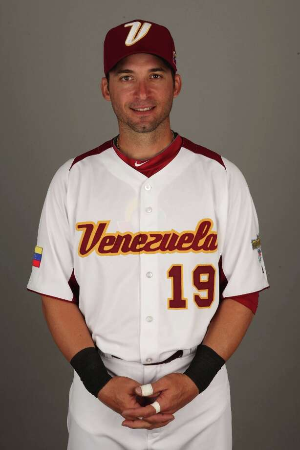 Marco Scutaro of Team Venezuela poses for a headshot for the 2013 World Baseball Classic at Roger Dean Stadium on Monday, March 4, 2013 in Jupiter, Florida. Photo: Eliot J. Schechter, MLB Photos Via Getty Images / 2013 World Baseball Classic, Inc.