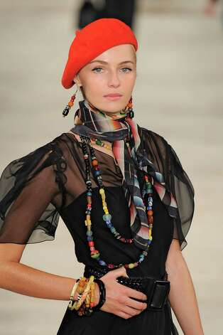 A model walks the runway at the Ralph Lauren Spring Summer 2013 fashion show during New York Fashion Week on September 13, 2012 in New York, United States. Photo: Karl Prouse/Catwalking, Getty Images / 2012 Catwalking