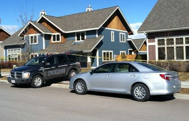 Police at the scene of the home where Rodriguez was gunned down. Photo: Courtesy Of Whitefish PD