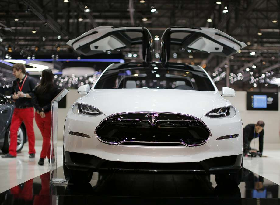 A Tesla Model X electric prototype automobile, produced by Tesla Motors Inc., is seen on display on the second day of the 83rd Geneva International Motor Show in Geneva, Switzerland, on Wednesday, March 6, 2013. This year's show opens to the public on Mar. 7, and is set to feature more than 100 product premiers from the world's automobile manufacturers. Photographer: Valentin Flauraud/Bloomberg Photo: Valentin Flauraud, Bloomberg