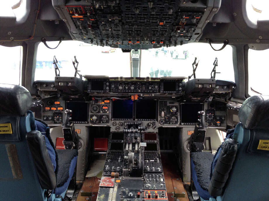 The cockpit of a Boeing C-17. Photo: U.S. Air Force