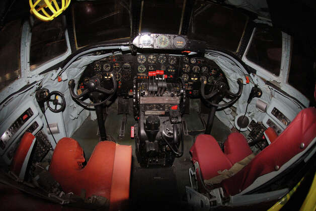 The cockpit of a Lockheed EC-121D. Photo: U.S. Air Force