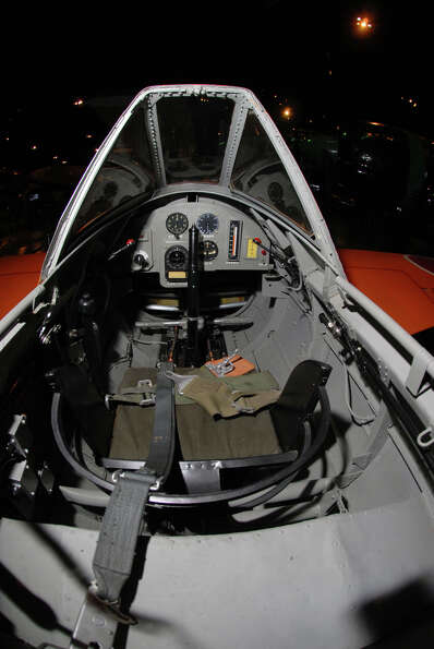 The cockpit of a Yokosuka MXY7-K1 Ohka Trainer.