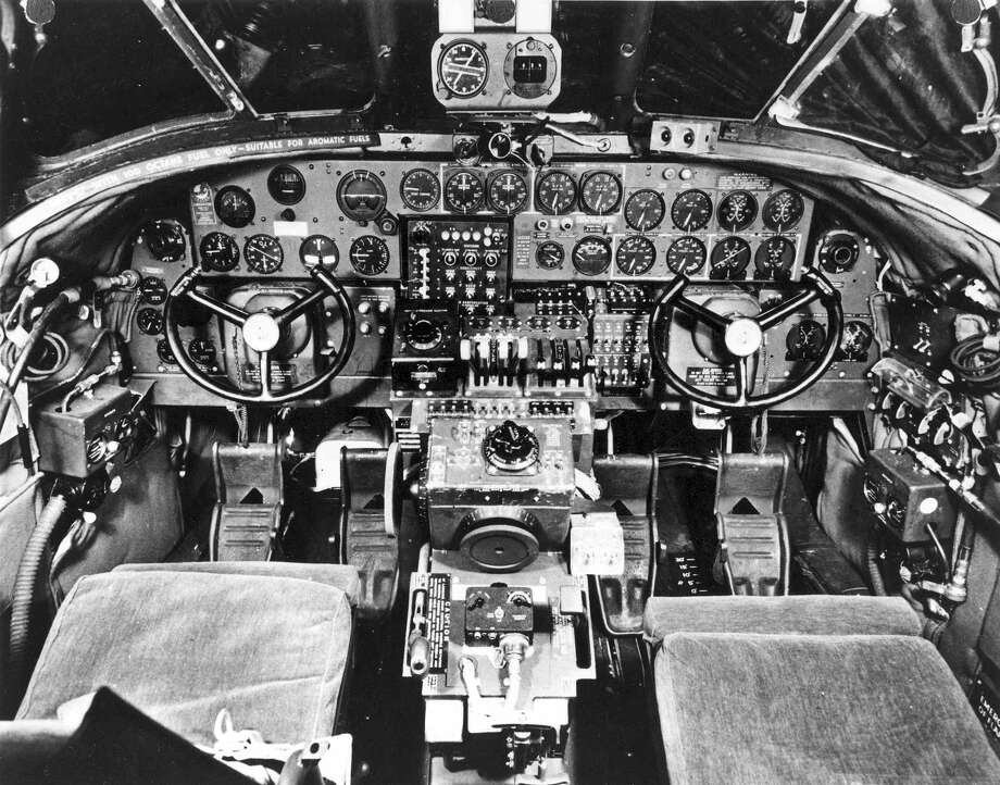 The cockpit of a Consolidated B-24 Liberator. Photo: U.S. Air Force