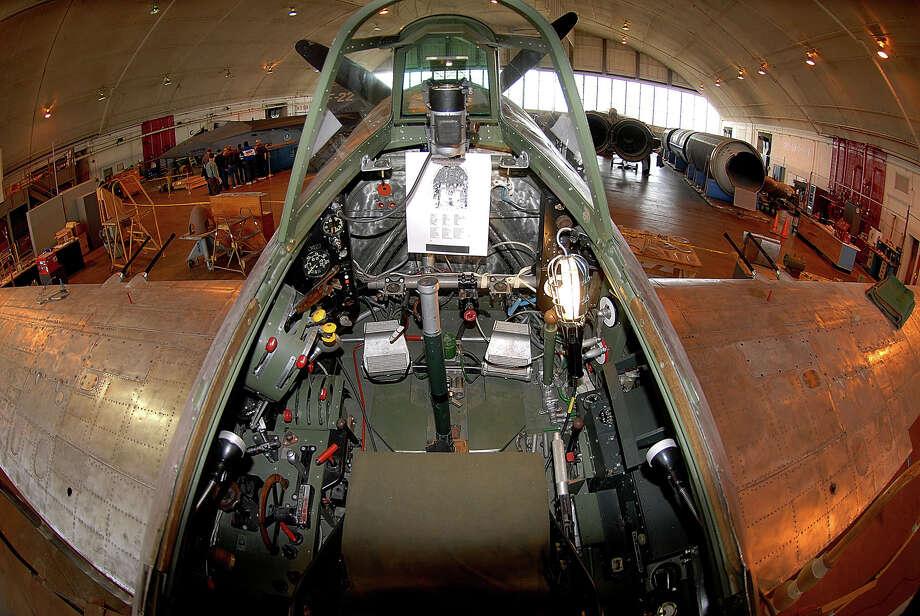 The cockpit of a Kawanishi N1K2-Ja. Photo: U.S. Air Force