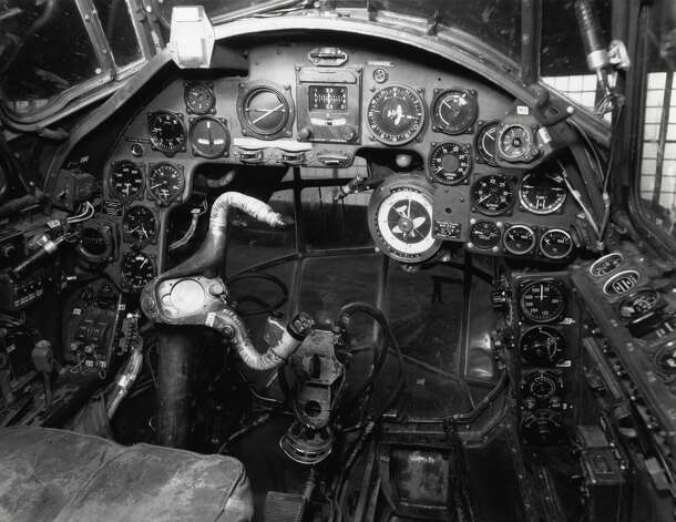 The cockpit of a Junkers Ju 88D. Photo: U.S. Air Force