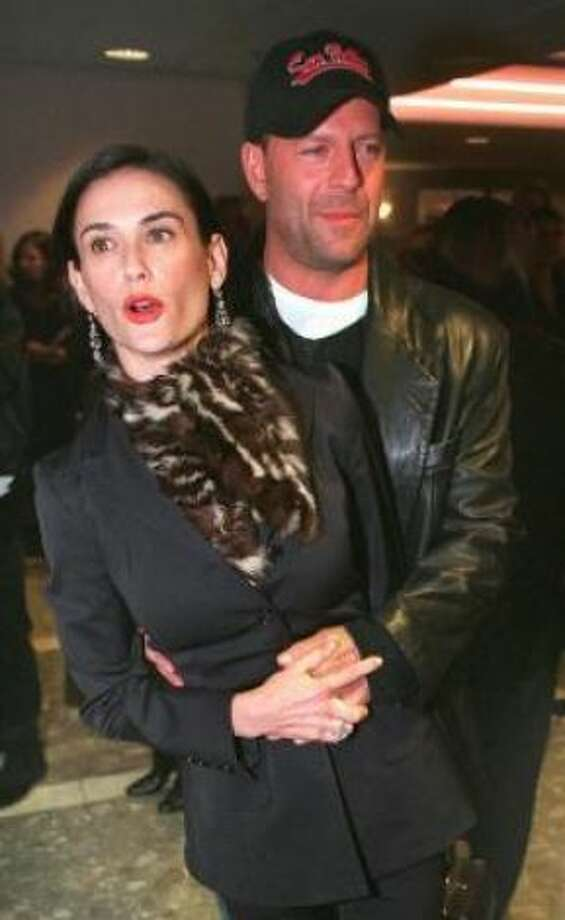 Demi Moore and Bruce Willis:Kids' names: Rumer Glenn, Scout LaRue and Tallulah Belle