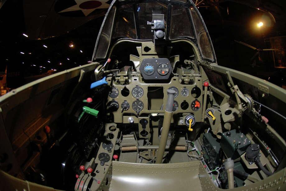 Mitsubishi A6M2 Zero cockpit . Photo: U.S. Air Force
