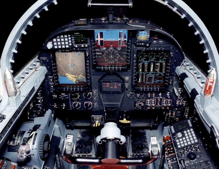 The Lockheed U-2S's glass cockpit uses modern displays and electronics. Photo: U.S. Air Force, Lockheed Martin Aeronautics Co.