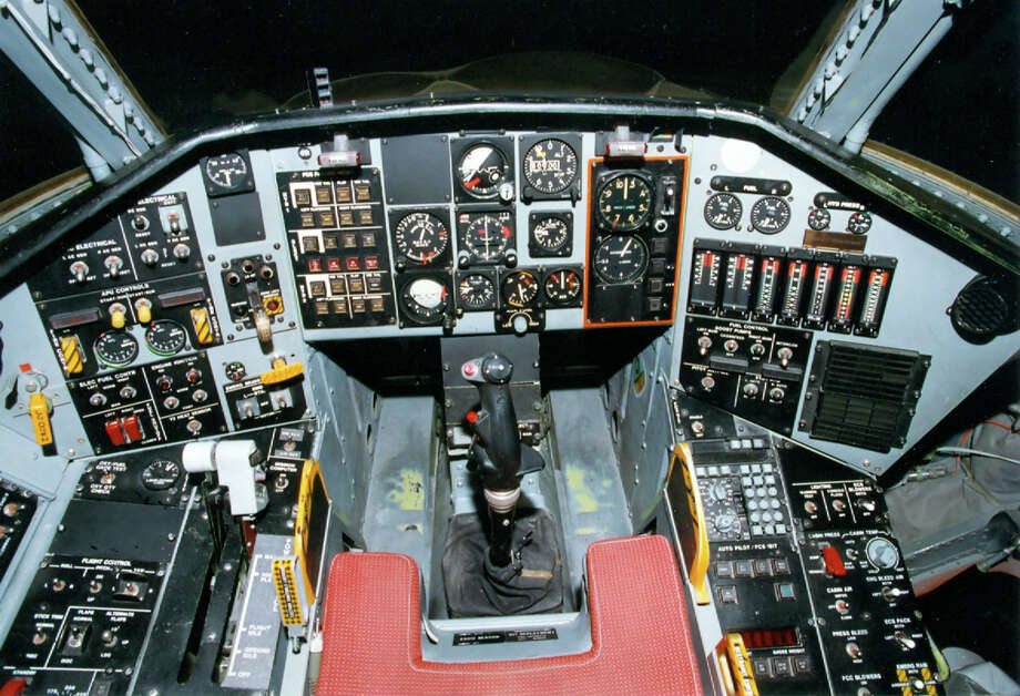 Northrop Tacit Blue cockpit. Tacit Blue was an early experimental stealth aircraft. Photo: U.S. Air Force