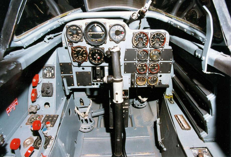 Messerschmitt Me 262A cockpit. Photo: U.S. Air Force