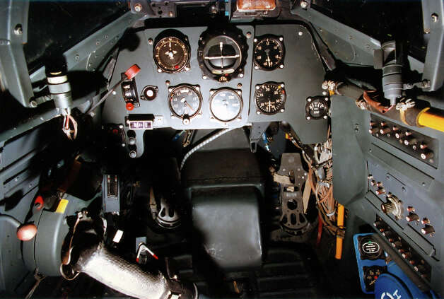 Messerschmitt Bf 109G-10 cockpit. Photo: U.S. Air Force