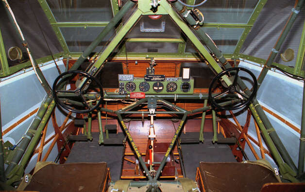 Waco CG-4A cockpit. Photo: U.S. Air Force