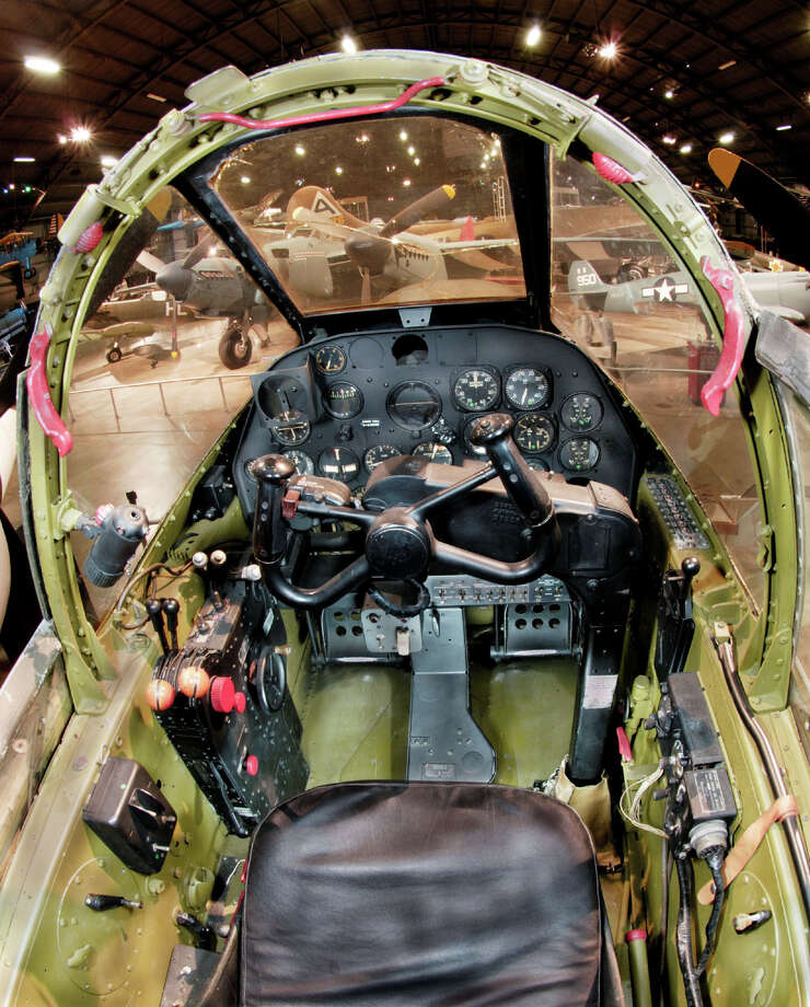 Lockheed P-38L Lightning cockpit. Photo: U.S. Air Force
