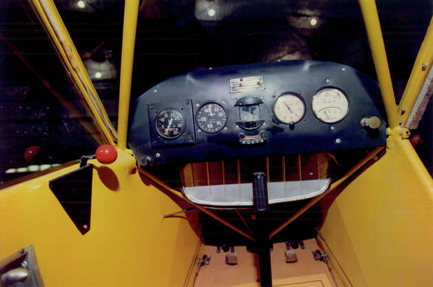 Piper J-3 Cub cockpit . Photo: U.S. Air Force
