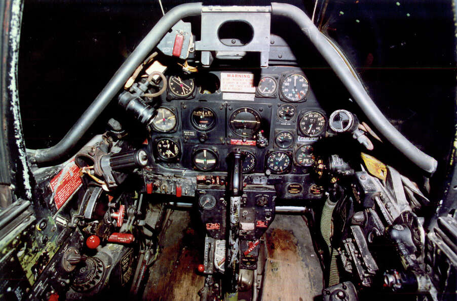 North American P-51D Mustang cockpit.