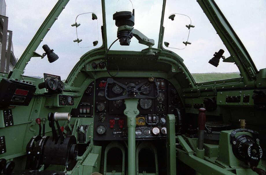Bristol Beaufighter cockpit . Photo: U.S. Air Force