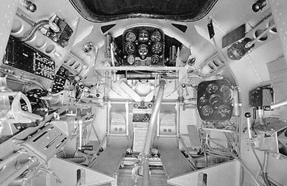 Seversky P-35A cockpit . Photo: U.S. Air Force