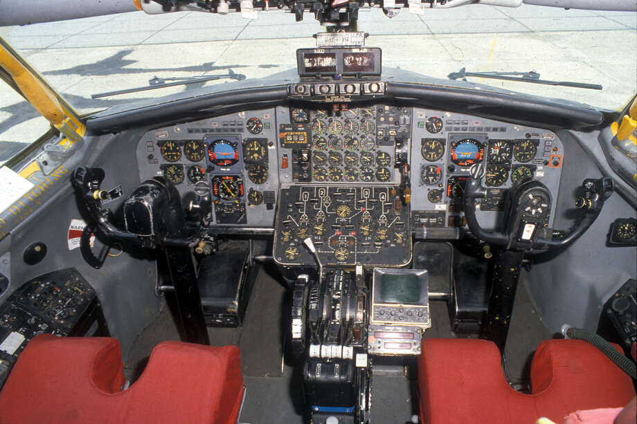 Boeing NKC-135A Airborne Laser Lab cockpit. Photo: U.S. Air Force