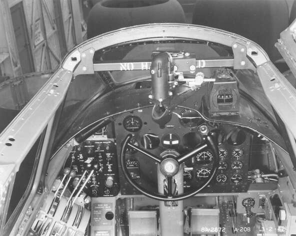Douglas A-20B cockpit, taken March 2, 1942, during a modification/test program showing installation of a torpedo director and firing switch. Photo: U.S. Air Force