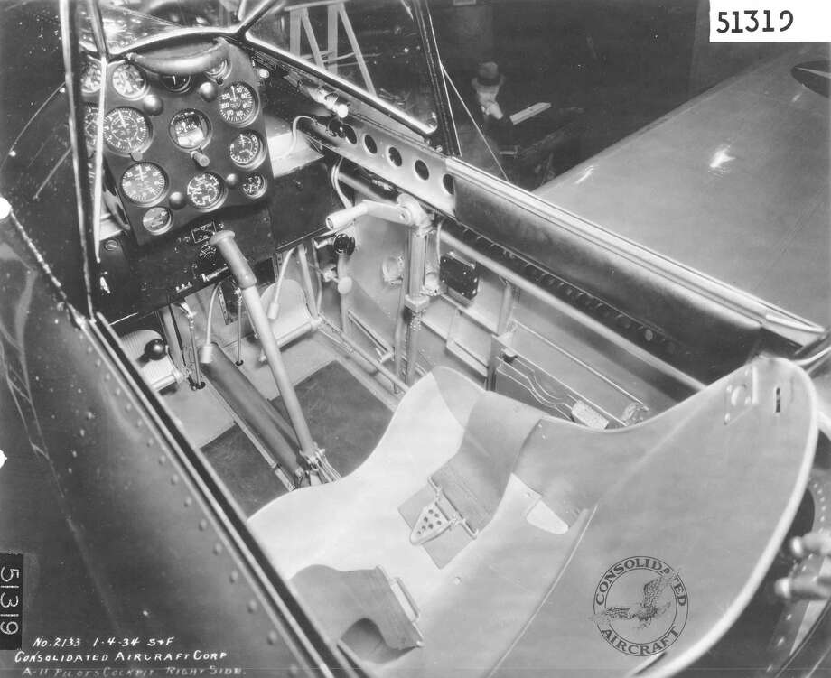 Cockpit of a Consolidated A-11, taken Jan. 4, 1934. Photo: U.S. Air Force