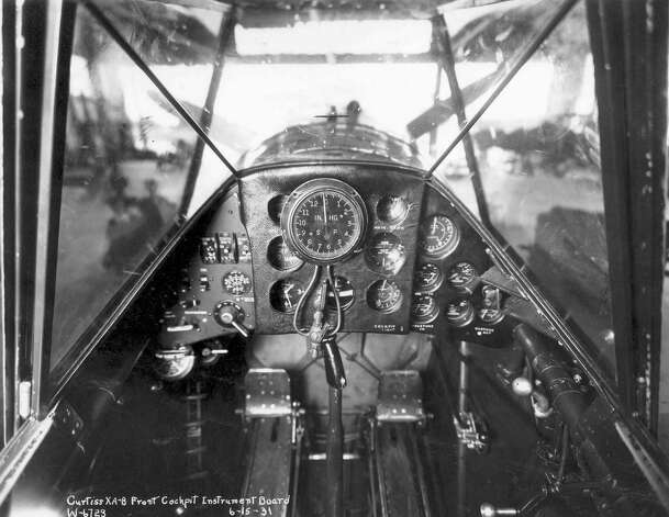 Curtiss XA-8 front cockpit instrument board, taken June 15, 1931. Photo: U.S. Air Force
