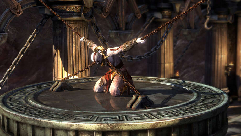 "Kratos is imprisoned for revoking Ares in the origin story ""God of War: Ascension"""