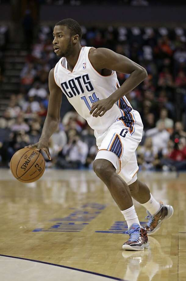 Charlotte Bobcats' Michael Kidd-Gilchrist drives against the Chicago Bulls during the first half of an NBA basketball game in Charlotte, N.C., Friday, Feb. 22, 2013. (AP Photo/Chuck Burton) Photo: Chuck Burton, Associated Press