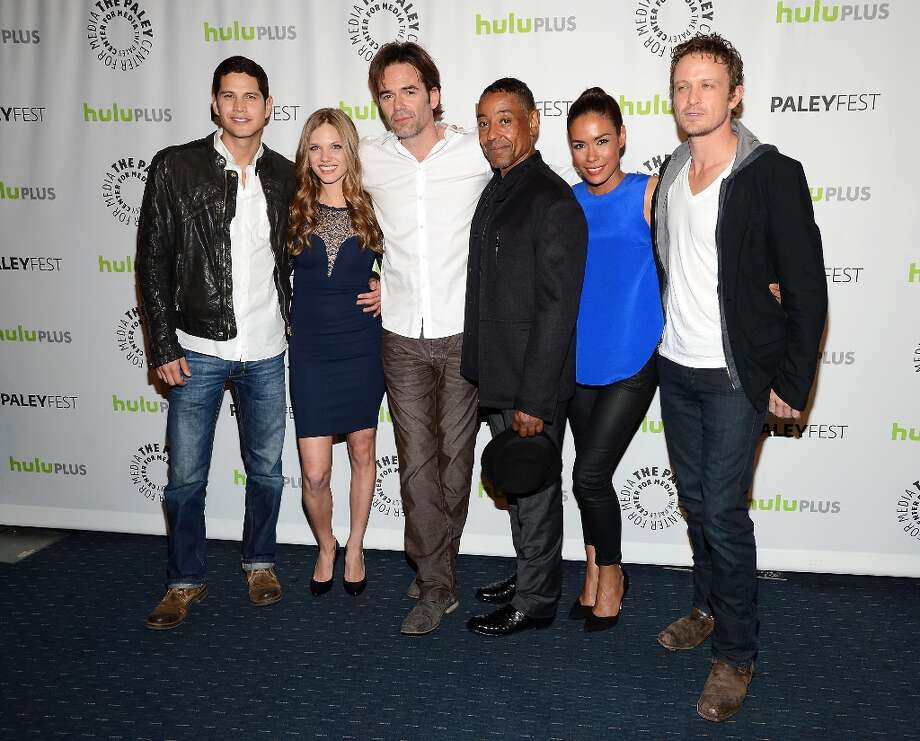 (L-R) Actors J.D. Pardo, Tracy Spiridakos, Billy Burke, Giancarlo Esposito, Daniella Alonso and David Lyons arrive at the 30th Annual PaleyFest: The William S. Paley Television Festival featuring Revolution at Saban Theatre on March 2, 2013 in Beverly Hills, California. Photo: Amanda Edwards, WireImage / 2013 Amanda Edwards