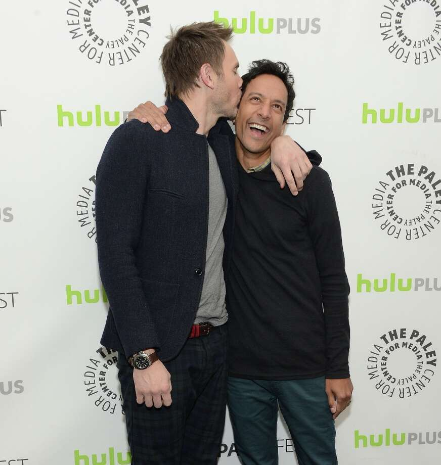 Actors Joel McHale and Danny Pudi attend The Paley Center For Media's PaleyFest 2013 Honoring Community at Saban Theatre on March 5, 2013 in Beverly Hills, California. Photo: Jason Kempin, Getty Images / 2013 Getty Images