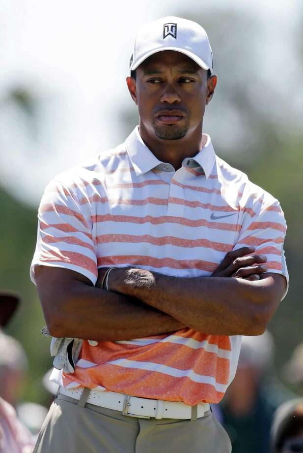 Tiger Woods waits to hit from the third tee during the second round of the Cadillac Championship golf tournament Friday, March 8, 2013, in Doral, Fla. (AP Photo/Wilfredo Lee) Photo: Wilfredo Lee