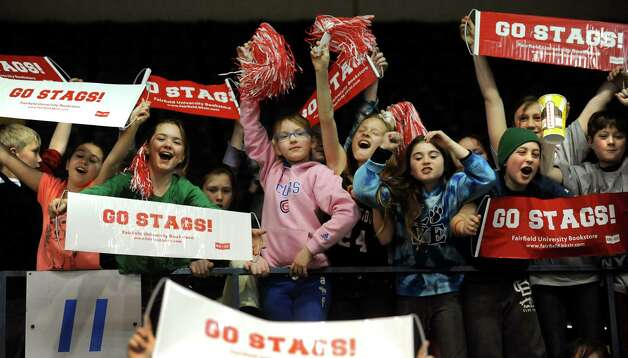 Fairfield fans cheer during the quarterfinal MAAC Championship basketball game against Siena on Friday, March 8, 2013, in Springfield, Mass. (Cindy Schultz / Times Union) Photo: Cindy Schultz / 10021489A