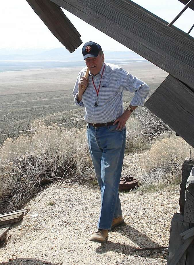 John Livermore inspects a mine site in northern Nevada in 2009. Photo: Courtesy Jim Greybeck