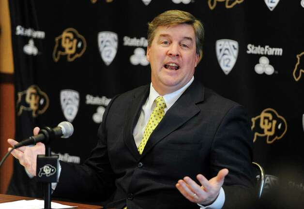 New Colorado coach Mike MacIntyre has inherited a program that's seen better days. The Buffaloes are 25-61 since the 2005 season, when they lost 70-3 to UT in the Big 12 title game. Photo: Cliff Grassmick / Associated Press
