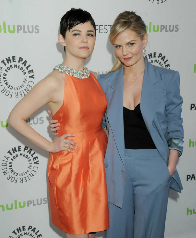 Actors Ginnifer Goodwin and Jennifer Morrison arrive at the 30th Annual PaleyFest: The William S. Paley Television Festival featuring 'Once Upon A Time' at Saban Theatre on March 3, 2013 in Beverly Hills, California. Photo: Gregg DeGuire, WireImage / 2013 Gregg DeGuire