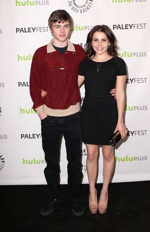 Mae Whitman (R) and Miles Heizer arrive for the 30th Annual PaleyFest: The William S. Paley Television Festival - Parenthood at Saban Theatre on March 7, 2013 in Beverly Hills, California. Photo: Gabriel Olsen, FilmMagic / 2013 Gabriel Olsen