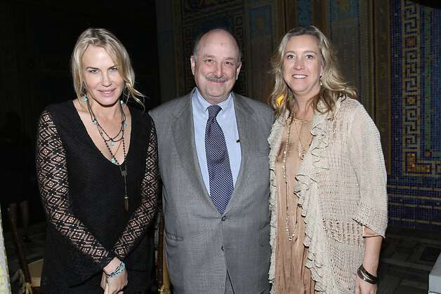 "Actress Daryl Hannah, Hearst Chairman Will Hearst, ""Citizen Hearst"" Director and SLOIFF Spotlight Award Recipient Leslie Iwerks. Documentary film ""Citizen Hearst"" made its West Coast premiere at Hearst Castle on Friday, March 8, as part of the San Luis Obispo International Film Festival. Starting Monday, March 11, the film, directed by Leslie Iwerks, will screen in select theaters nationwide. Details on screenings at www.citizenhearst.com. Photo: Maury Phillips/Hearst Corporation"