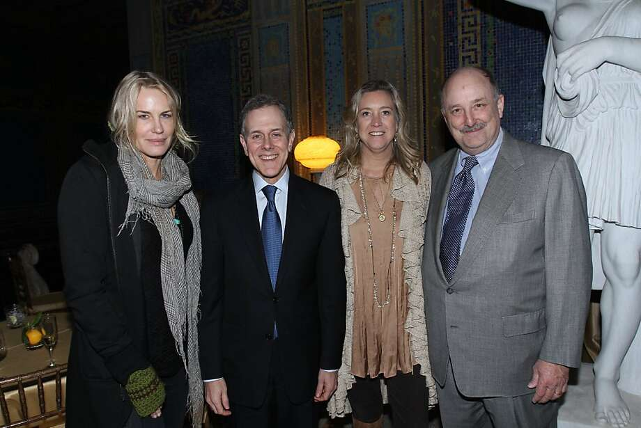 "Actress Daryl Hannah, Hearst President Steve Swartz, ""Citizen Hearst"" Director and SLOIFF Spotlight Award Recipient Leslie Iwerks and Hearst Chairman Will Hearst. Documentary film ""Citizen Hearst"" made its West Coast premiere at Hearst Castle on Friday, March 8, as part of the San Luis Obispo International Film Festival. Starting Monday, March 11, the film, directed by Leslie Iwerks, will screen in select theaters nationwide. Details on screenings at www.citizenhearst.com. Photo: Maury Phillips/Hearst Corporation"