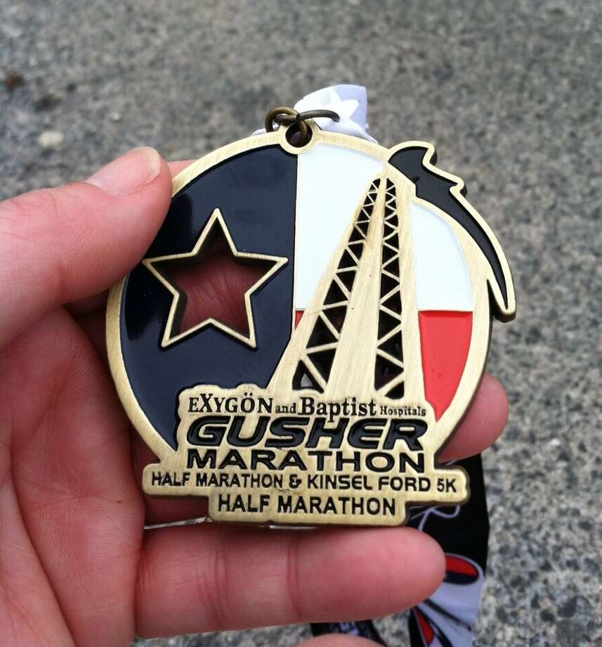 Pictures posted with #BMTGusher on social media from Saturday s 4th Annual Gusher Marathon, Half Marathon & 5K events. Photo: #BMTGusher Tweets