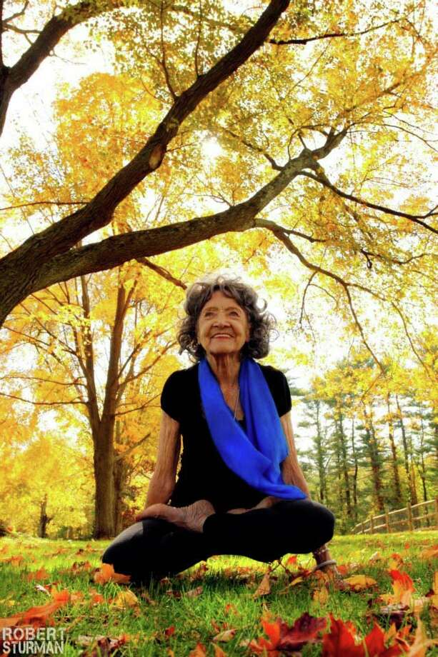 Tao Porchon-Lynch, a 94-year-old yoga teacher, will be teaching a workshop on Saturday, March 9, at Elements Yoga & Wellness Center in Darien. Photo: Contributed